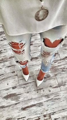 Inspiration; Ripped Jeans http://FashionCognoscente.blogspot.com