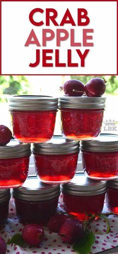 Crab Apple Recipes, Jelly Recipes, Jam Recipes, Canning Recipes, Vegan Recipes Easy, Easy Dinner Recipes, Dessert Recipes, Easy Meals, Kitchen Recipes