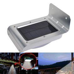 16 LED Solar Power Sound Sensor Garden Security Lamp Outdoor Waterproof Light
