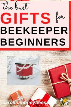 Need a gift for a beekeeper?  Check out the 9 best gifts for beginner beekeepers.  Practical gift ideas that are sure to create a buzz.  #carolinahoneybees #beekeepergifts #beegifts