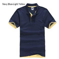 58938b21 URSPORTTECH Men's Polo Shirt For Men Desiger Polos Men Cotton Short Sleeve shirt  Clothes jerseys golftennis