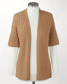 Cable Mix Cardigan #ColdwaterCreek