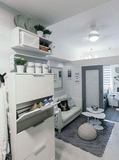 Small Condominium Interior Design Ideas - Home Interior Design Ideas Small Condo Living, Small Condo Kitchen, Condo Living Room, Diy Kitchen, Studio Living, Small Kitchens, Small Bathrooms, Design Kitchen, Kitchen Interior