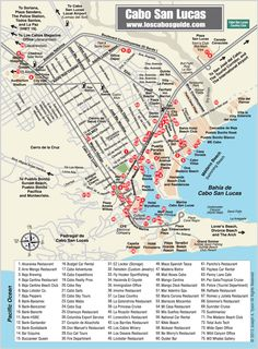 Map of Los Cabos, Cabo San Lucas #Norwegian #NCL