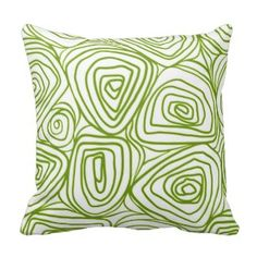 Lime Green Abstract Floral Pillows - Green Throw Pillows *Fresh inventory added to site, visit www.prettythrowpillows.com to see all of our green throw pillows