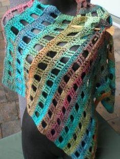 Ravelry: Noro Stole pattern by Jenny King Knitted Shawls, Crochet Shawl, Free Crochet, Knit Crochet, Crochet Borders, Crochet Blanket Patterns, Yarn Shop, Cute Pattern, Vintage Patterns