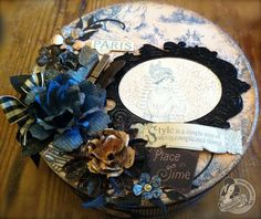 Clare Charvill as My Creative Spirit for Graphics 45, gift box using the French Country paper collections, Feb. 2013