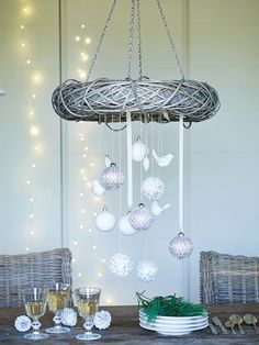 Our Hanging Willow Wreath looks amazing on the front door but also makes a stunning centerpiece at any Christmas Table.  http://www.coxandcox.co.uk/hanging-willow-wreath
