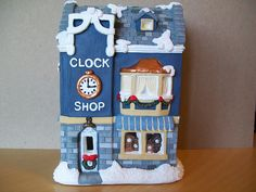 Donut shop christmas villages and plaster on pinterest