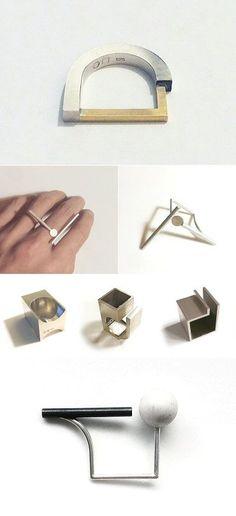 Loop and Box                                                                                                                                                      Más #modernjewellery