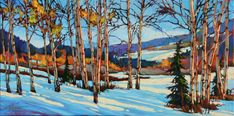 Image result for david langevin -artist Watercolor Landscape Paintings, Landscape Art, Watercolor Flowers, Canadian Painters, Canadian Artists, Watercolor Techniques, Painting Techniques, Painting Snow, Learn Art