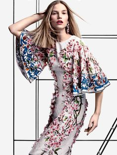 Funky Floral Collage Editorials : Fashion, collage, editorial, eclectic magazine, art danil golovkin, ashkan honavar
