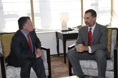 Don Felipe conversa con el rey de Jordania - 22/9/2014