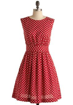 Polka dots AND red .... want!