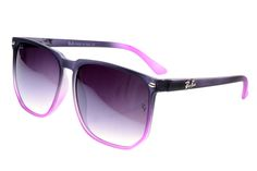 Ray Ban Clubmaster RB2143 Sunglasses Pink Black Frame Purple Lens