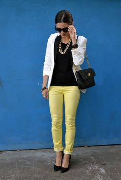 Yellow skinnies. Gotta get me some.