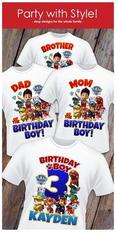 Paw Patrol Cake, Paw Patrol Party, Paw Patrol Pinata, Paw Patrol Birthday Theme, Paw Patrol Birthday Shirts, Family Birthday Shirts, Fete Laurent, Cumple Paw Patrol, V Neck Shirts