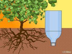 Tuinbewatering met een ingegraven plastic fles. Bewatering systeem maken van een plastic fles stap2. #irrigatie