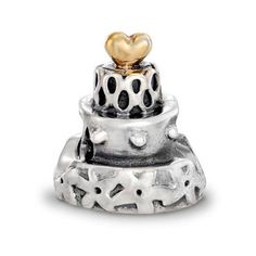 Pandora Black Friday 2013 Silver and 14ct Gold Celebration Wedding Cake 790347