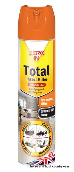 STV International Total Insect Killer Kills most flying and crawling insects on contact including flies ants wasps and mosquitoes Suitable for home and garden use.