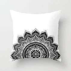 Buy Black and White Mandala Throw Pillow by haroulita. Worldwide shipping available at Society6.com. Just one of millions of high quality products available.