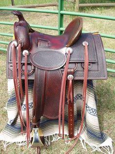 Stock saddle, circa 1890s
