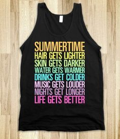 Sweet Sweet Summertime - Text First - Skreened T-shirts, Organic Shirts, Hoodies, Kids Tees, Baby One-Pieces and Tote Bags on Wanelo