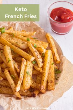 The Best Keto Fries Alternative - Low Carb Recipes Low Carb Recipes, Diet Recipes, Cooking Recipes, Healthy Recipes, Low Carb Dessert, Low Carb Side Dishes, Keto Friendly Desserts, Low Carb Diet, Paleo Diet
