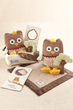 Baby Aspen - My Little Night Owl Five-Piece Baby Gift Set