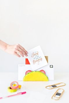 Sorry for what I said when I was hangry- DIY Taco Letter Holder