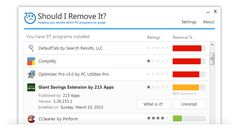 Quickly locate and remove unwanted programs including adware, toolbars, bloatware, crapware and other junk.
