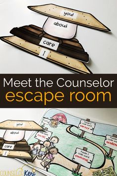 Are you looking for a fun, back to school activity to introduce the role of the school counselor? Welcome your students to Counselor's Camp. but there's one problem: they're lost! They'll have to work together to solve puzzles about the counselor's rol Feelings Activities, Social Skills Activities, Back To School Activities, Group Counseling, Counseling Activities, School Counseling, School Counselor Lessons, Elementary School Counselor, Counselor Office