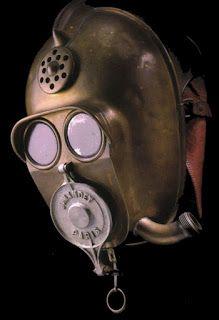 Antique French Smoke Helmet
