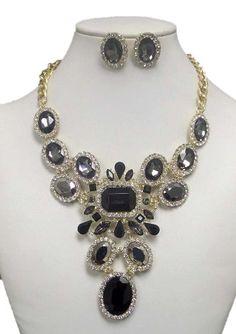 Luxury Austrian Crystal Deco Party Necklace Set / AZBLRH039-GBK Arras Creations http://www.amazon.com/dp/B00KGIGP8W/ref=cm_sw_r_pi_dp_pAHdub1Q0MCBK