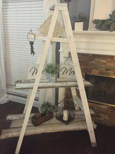 Ladder Bookcase, Ladder Decor, Shelves, Home Decor, Shelving, Decoration Home, Room Decor, Shelf, Planks