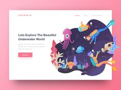 Cute high converting rate flat illustration web design user interface landing page Design Web, Site Design, Logo Design, Graphic Design, Webdesign Inspiration, Web Inspiration, Web Layout, Layout Design, Pag Web