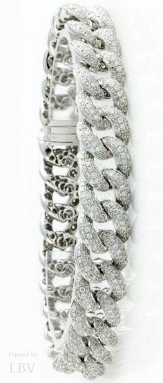 Diamonds ♥✤Cuban Link Diamond Bracelet