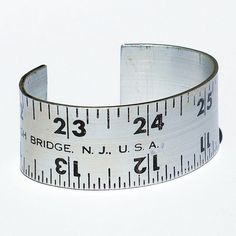 Vintage Ruler Bracelet Cuff Found Object Jewelry by Tanith on Etsy