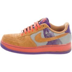 Pre-owned Nike Air Force 1 Sneakers ($55) ❤ liked on Polyvore featuring shoes, sneakers, neutrals, lace trainers, nike trainers, tie sneakers, tie shoes and lace sneakers