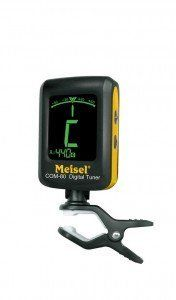 Meisel COM-80 Clip-On Tuner by Meisel. Save 31 Off!. $23.95. Meisel Accessories has launched their new clip-on instrument tuner that features a large backlit LCD display and broad calibration range. Its name is Meisel COM-80 chromatic tuner and it can tune any instrument, but has selectable calibration for guitar, bass, violin, and even ukulele.  This is also one of the few available tuners with a calibration range that extends to A=410Hz - an important feature to Renaissance, Baroque, and…