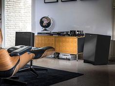 Classic: Klipsch Heresy III Speakers in Matte Black Sound Room, Video Game Rooms, Audio Room, Vinyl Record Storage, Built In Speakers, Decoration, Custom Homes, Lounge, Instagram