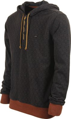 RVCA Magia Hoodie - charcoal - Mens Clothing > Hoodies Sweaters > Hoodies > Pullover Hoodies