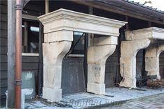 Antique Castle Fireplace Mantels, Saint Agnant White Limestone Fireplace Mantels