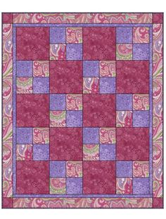 Fabric Cafe: SEW QUICK 3 YD QUILT PATTERN
