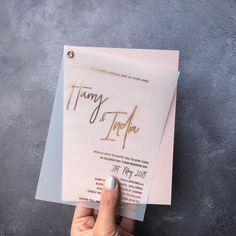 rose gold vellum wedding invitations ✨💛