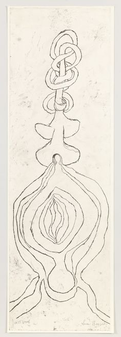 "Louise Bourgeois - The Twist. 2007. Only state. Etching. plate: 60 1/4 x 18 13/16"" (153 x 47.8 cm); sheet: 60 7/8 x 19 13/16"" (154.7 x 50.4 cm). unpublished. Wingate Studio, Hinsdale, NH. 1 known impression of the only state, outside the edition and unique variant. Not numbered. Gift of the artist. 262.2011. © 2016 The Easton Foundation/Licensed by VAGA, NY. Drawings and Prints"