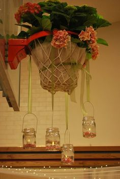 Wedding Ideas: Making a Basketball hoop pretty for Wedding Reception at a church building