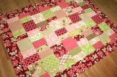 modern meadow quilt top by sonnetofthemoon, via Flickr