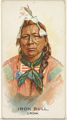 Iron Bull, Crow, from the American Indian Chiefs series (N2) for Allen & Ginter Cigarettes Brands