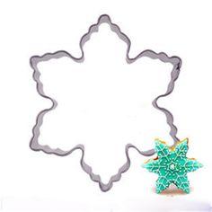 Placa Quadro Bolo de molde Cortador De Biscoitos Molde De Aço Inoxidável Do Floco De Neve decorações do bolo de ferramentas